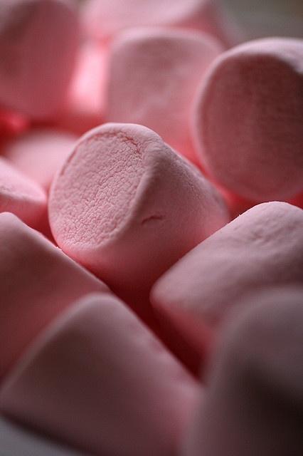 pink marshmallows...