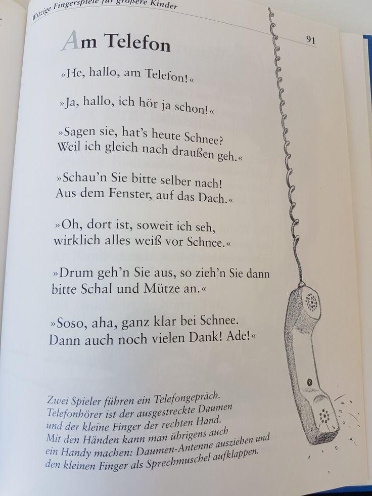 Am Telefon #fingerspiel #krippe #kita #kindergarten  #kind #reim #gedicht #erzieherin #erzieher