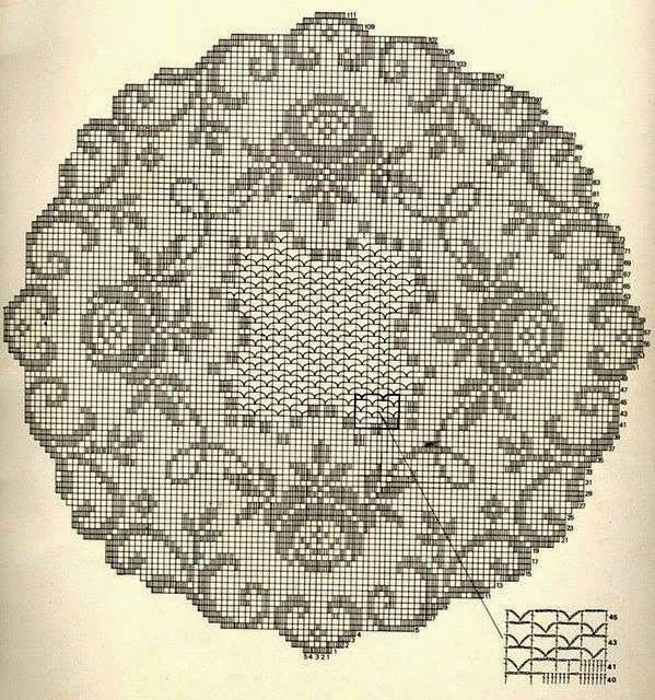 Kira crochet: Crocheted motif no. 347