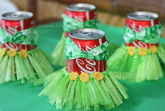 Probably couldn't do this for a bunch of soda cans, may have to do it on cups and pour drinks in them instead