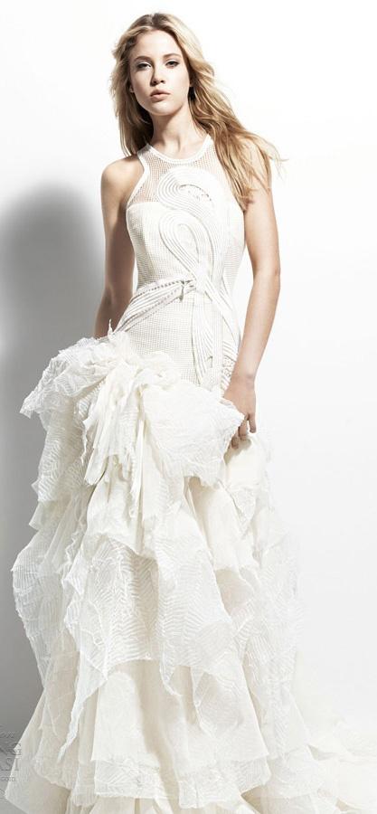 Yolan Cris wedding dress 2013 Chelsea Girl Belgica gown