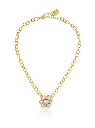 55% OFF Karine Sultan Chunky Chain Faux Pearl Necklace