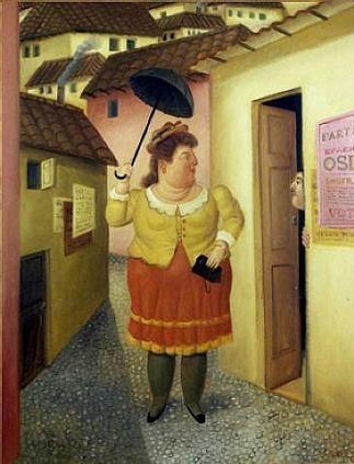 """Улица"" Фернандо Ботеро (исп. Fernando Botero, р. 1932) – современный колумбийский художник. Биография, картины: http://contemporary-artists.ru/Fernando_Botero.html"