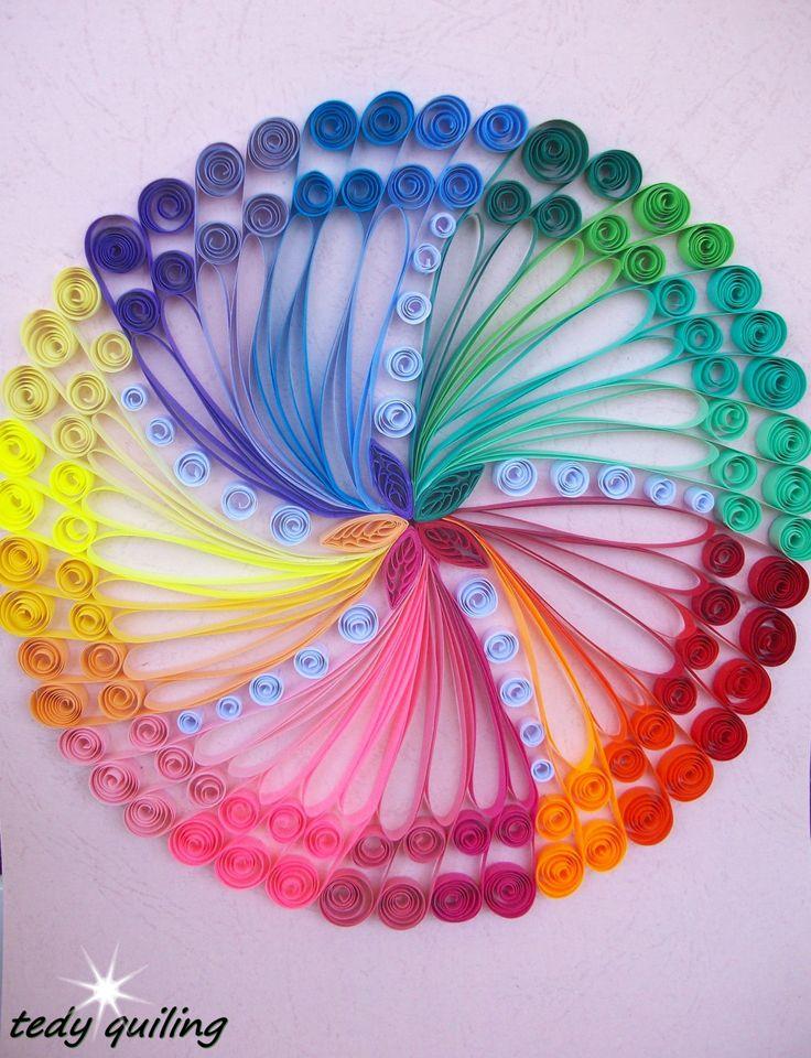 Quilling imagen colores cuadros de arte Quilling por HandmadeTedy