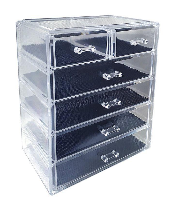 Photos On Amazon Sodynee Cosmetics Makeup and Jewelry Storage Organizer Case Display Boxes