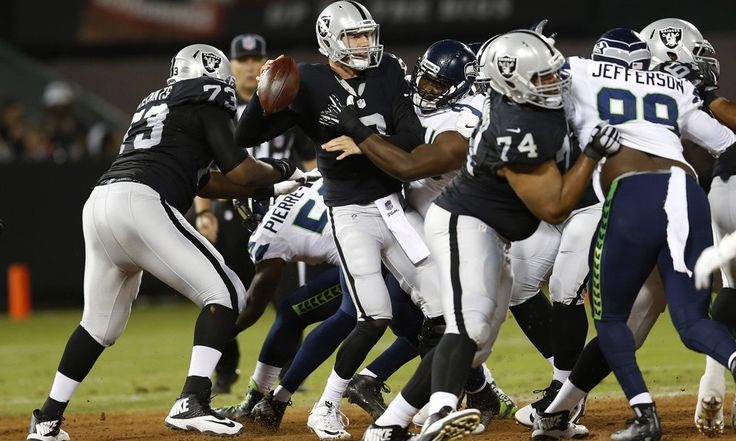 Three things gleaned from Raiders' preseason performances = The Oakland Raiders entered the 2016 preseason with more hype surrounding them in over a decade. Unfortunately for fans, the team's preseason left oddsmakers, and some analysts, less-than-inspire https://www.fanprint.com/licenses/oakland-raiders?ref=5750
