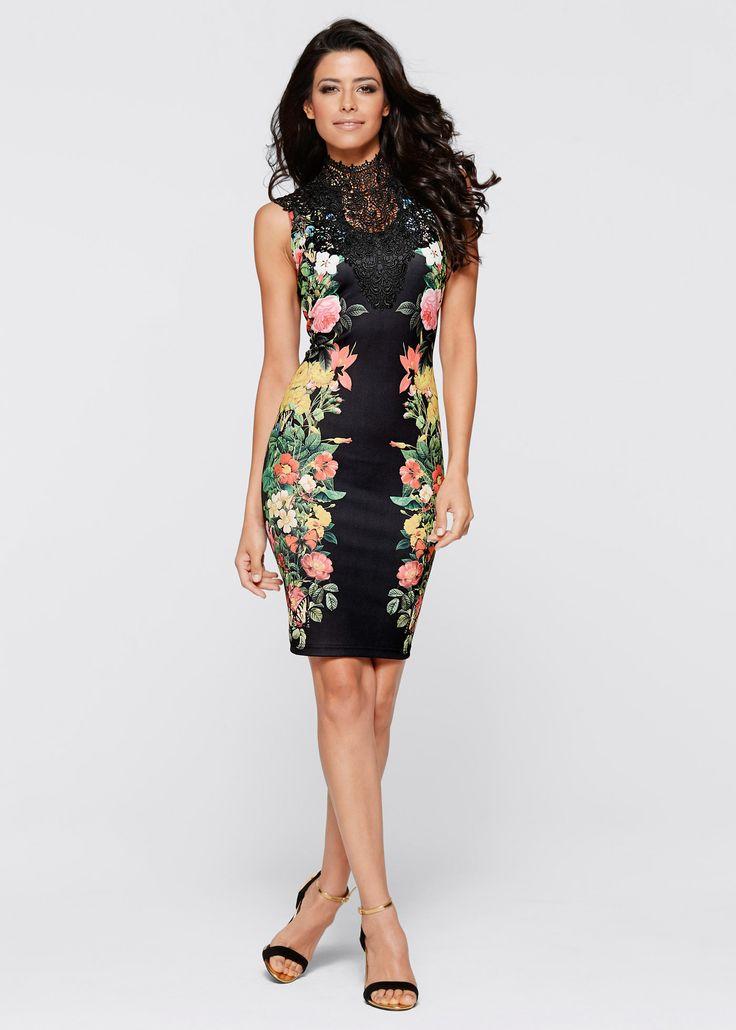 Jurk zwart gebloemd - BODYFLIRT boutique nu in de onlineshop van bonprix.nl vanaf ? 40.99 bestellen. Dans de hele nacht lang! Korte jurk met verleidelijke ...