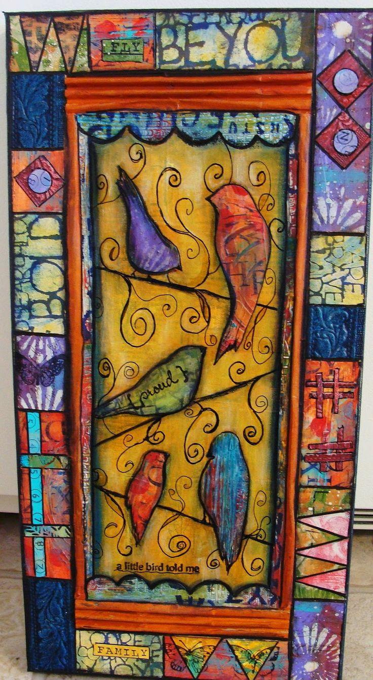 Mi Art Journal: Un nuevo principio a fin con Papeles pintados a mano Nueva textura