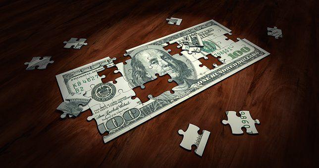 谜题, 钱, 业务, 财经, 解决方案, 成功, 拼图, 现金, 投资