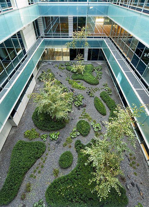 Gorbea-4 Atriums in Madrid, Spain by Studio Urquijo Kastner Landscape Architecture