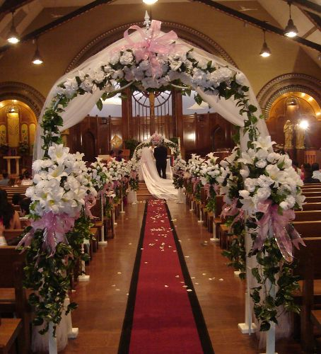 Simple Wedding Church Pew Decorations: Beautiful Church Wedding Pictures
