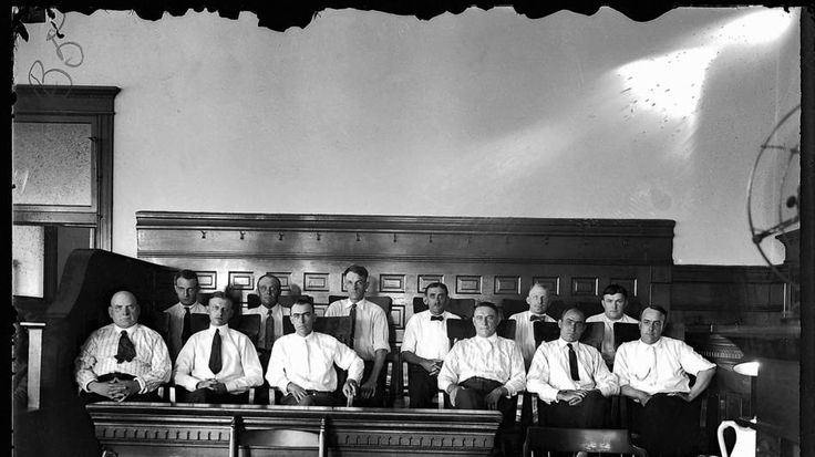 This is the jury that heard the case in 1921 against the eight White Sox players accused of throwing the 1919 World Series. It took them only two hours of deliberation on Aug. 2, 1921 to find the players not guilty. Two days later, Commissioner Kenesaw Mountain Landis banned the players for life