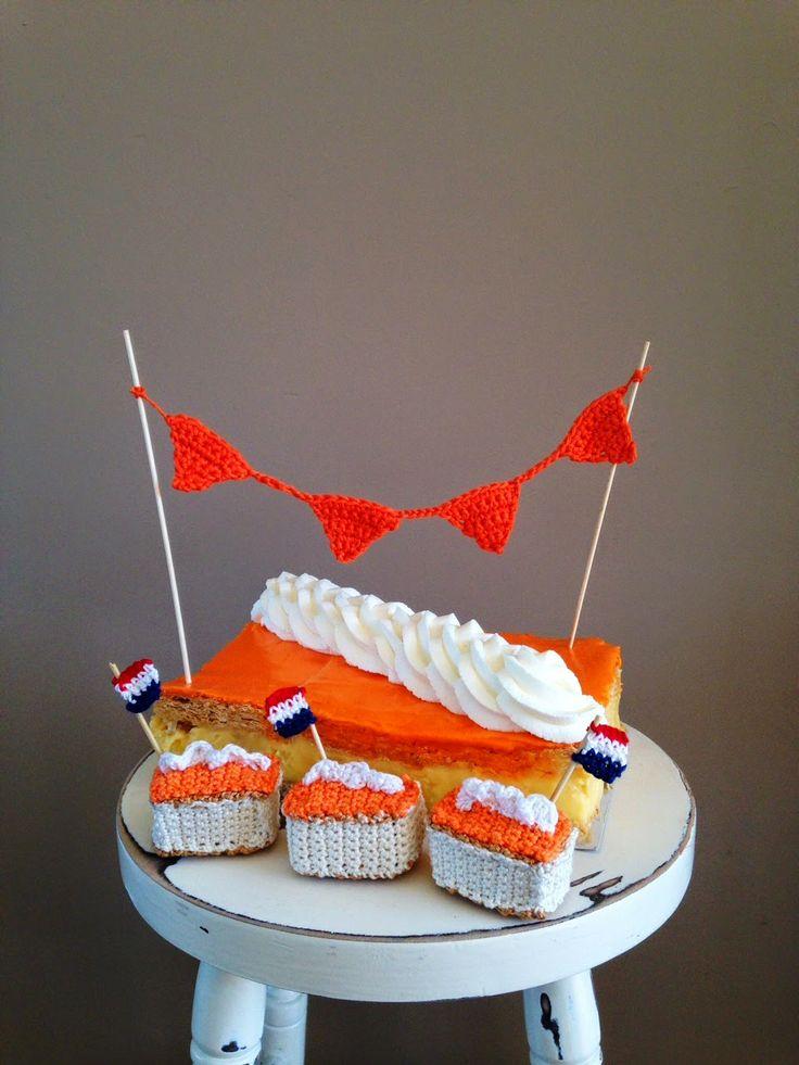 draad en praat...: Happy Holland slingertje...en MEGA oranje tompouce!