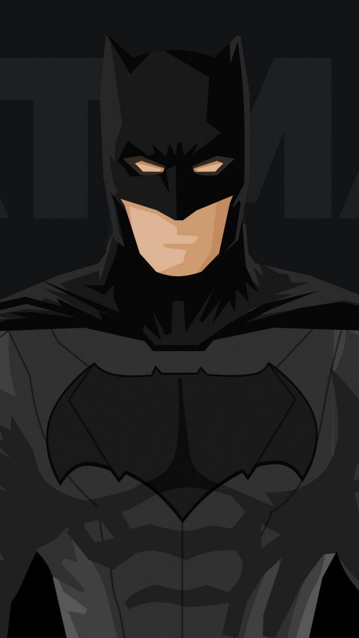 Superhero, batman, minimal, 720x1280 wallpaper | My fave