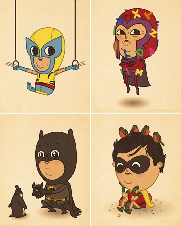 cute super heroes