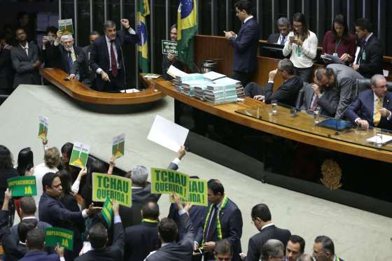 Brazil's lower house begins presidential impeachment debate #inewsphoto