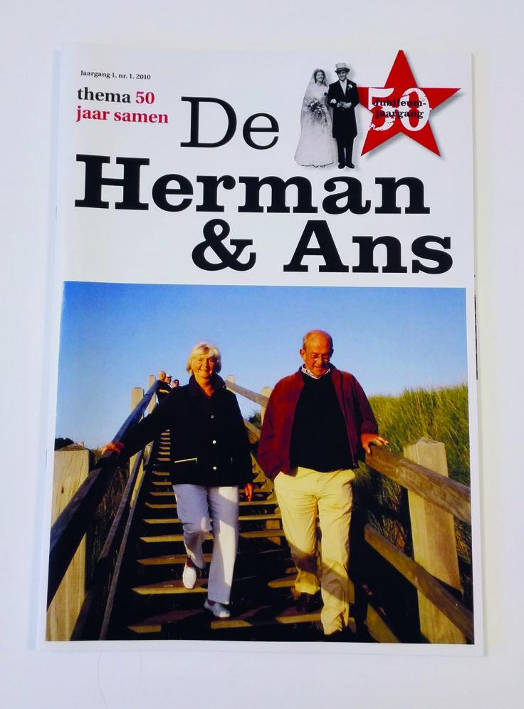 Tijdschrift voor een stel dat 50 jaar getrouwd is.