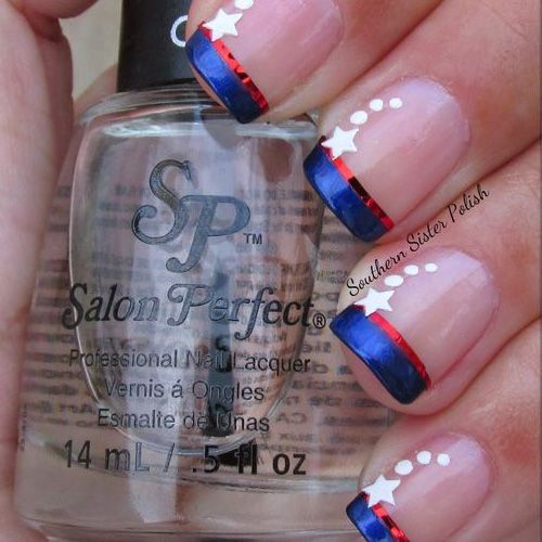 4th of July Nails - Best Red, White & Blue Nails! See Them All Right Here --> http://www.nailmypolish.com/4th-of-july-nails-best-red-white-blue/