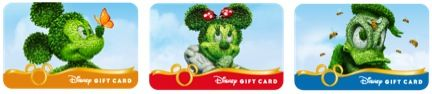 New Mini Disney Gift Card Designs for Epcot International Flower & Garden Festival #DisneySMMoms #disneyparks