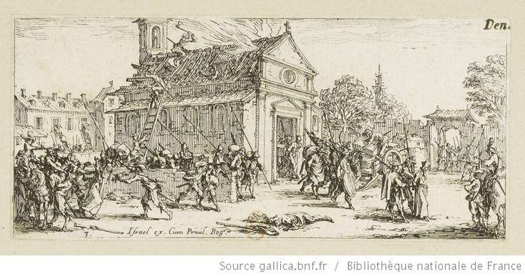 [Les petites misères de la guerre]. 3, [Dévastation d'un monastère] : [estampe] / [Jacques Callot] - 1