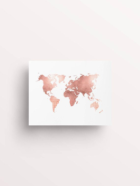 "Rose Gold Map ♥ Printable Art | Created by #FleurtCollective ✦ WHAT'S INCLUDED ✦ 1. JPEG for printing 4x5"", 8x10"", 16x20"", 22x28, 40x50cm 2. JPEG for printing 6x8"", 9x12"", 12x16"", 18x24"", 30x40cm 3. JPEG for printing 8x12"", 20x30"", 10x15cm, 20x30cm, 30x45cm, 50x70cm 4. JPEG for printing A5, A4, A3, A2, 50x70cm 5. PDF: 8.5x11"" pdf containing 8.5x11"", 8x10"", 5x7"", 4x6"" art with trim marks 6. PDF: A4 pdf containing A4, 8x10"", 5x7"", 4x6"" art with trim marks 7. Printing Advice Sheet ∙∙∙∙∙∙∙∙∙∙..."