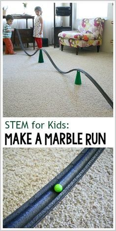 STEM for Kids: Make your own marble run with pipe insulation! Super fun science and engineering activity for kids of all ages! ~ BuggyandBuddy.com (Meets Next Generation Science Standards NGSS)