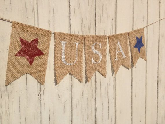 USA Banner Patriotic Banner Patriotic Bunting 4th by AlohaInspired, $12.50