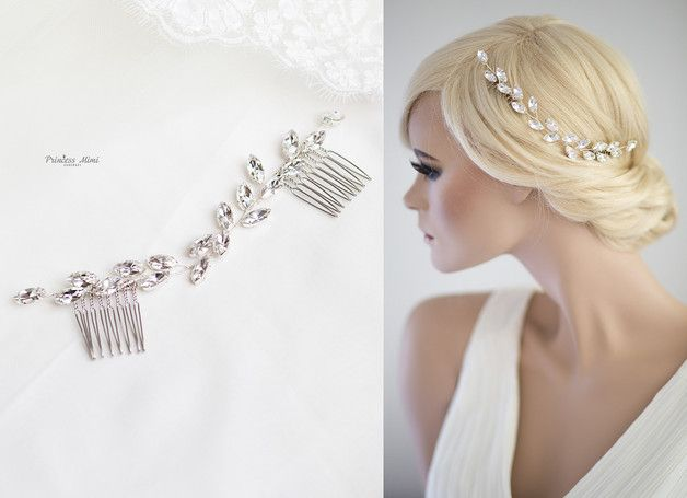 Kollektion Luxury Wedding Kristallkamm Als In Den Haaren