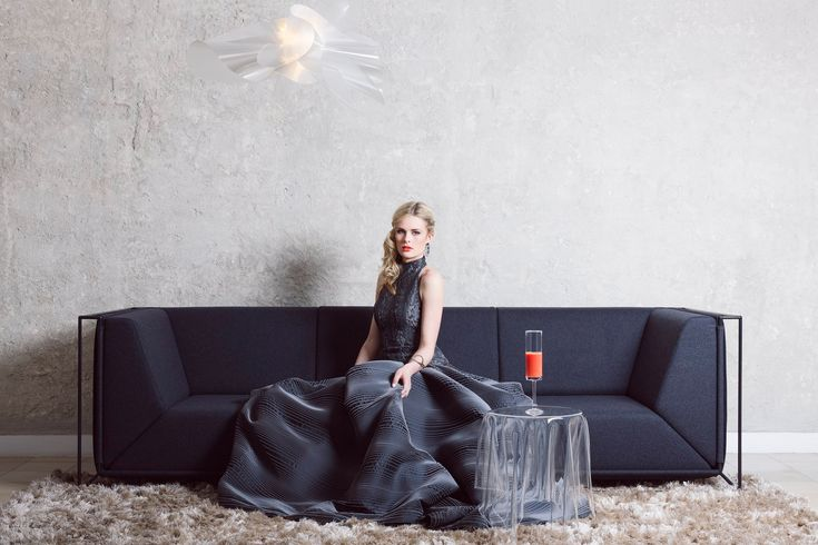 Our delicate and light Étoile suspension lamp, featured in a stunning shot by StephanieLieske and Neue Bilder at Living_wohndesign headquarter, outfit by Andrea Droemont. More at www.slamp.com