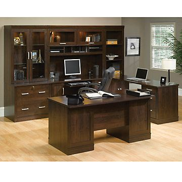 Office Port Dark Alder Executive Office Suite - OFG-EX0005 Home Office Furniture - Classy - Professional