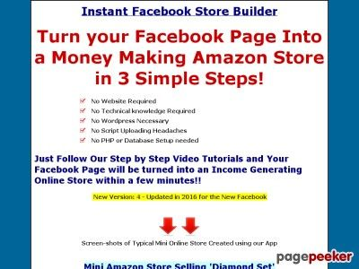 cool FB Store Builder | Instant Facebook Store Builder | How to Turn your Facebook Page Into a Money Making Amazon ebay store