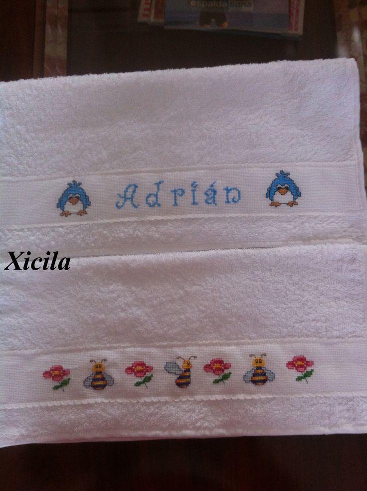 Dos toallitas bebé