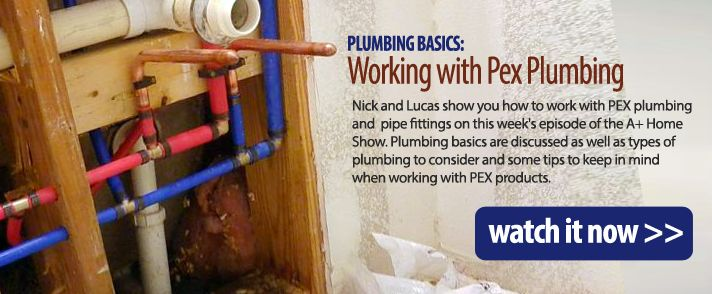 Plumbing basics working with pex plumbing with nick for Pex pros and cons