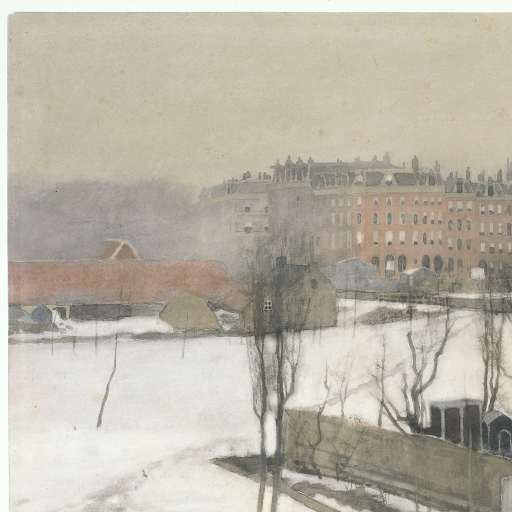 Gezicht op het Oosterpark in de sneeuw, Willem Witsen, ca. 1870 - ca. 1923 - Zoeken - Rijksmuseum
