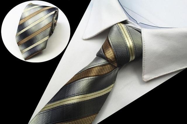 Formal Wedding Purple Yellow Pattern Mans Tie Classic JACQUARD Woven Necktie Tie