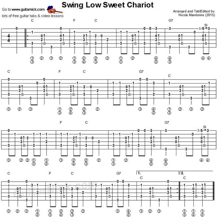 Swing Low Sweet Chariot: fingerstyle guitar tablature