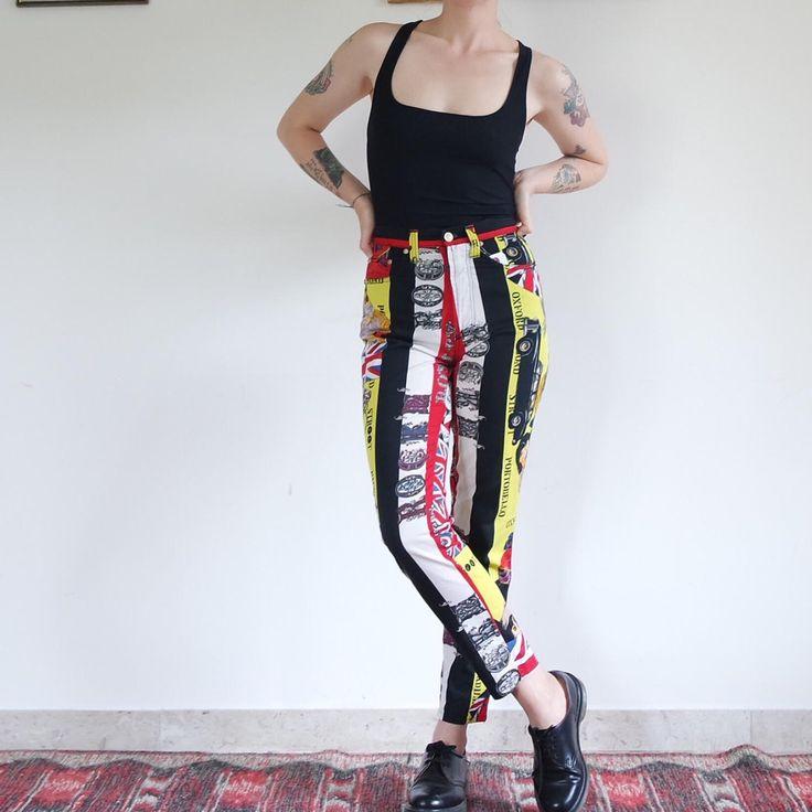Pantaloni vintage Versace Jeans Couture taglia 42 di Diecipiccolindiani su Etsy