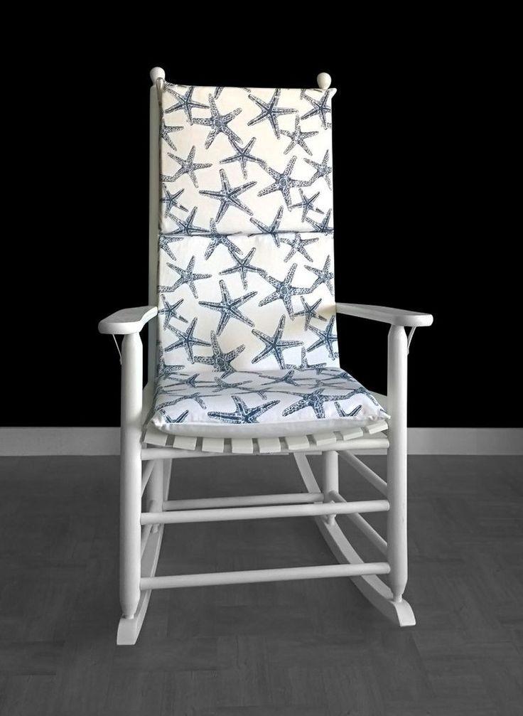 Navy blue starfish rocking chair cushion sea friends