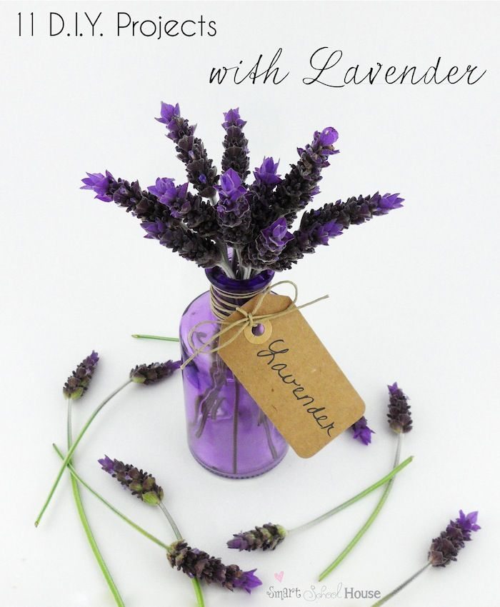 11 DIY Projects with Lavender - so pretty!