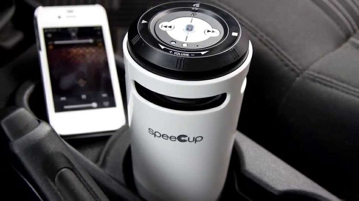 "speeCup Voice Enabled Portable Bluetooth Surround Sound Speaker - http://DesireThis.com/1710 - speeCup is a Siri/S Voice enabled portable Bluetooth surround sound speaker with gesture control. This portable 8"" tall speaker is designed to play music and be a hands-free speakerphone in your car, home or office. Using the audio out provided auxiliary cable you can connect directly to your car or home stereo system for enhanced sound quality and without losing the portability o"