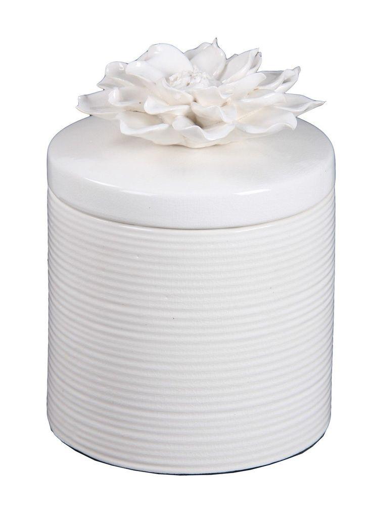 Ceramic Jar with Flower Lid