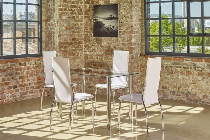 Cecil asztal+Wels fehér szék