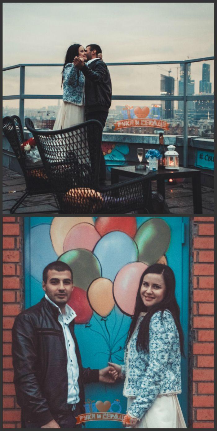 Свидание на крыше в Москве/Romantic rooftop date in Moscow #rukaiserdce #рукаисердце #свидание #предложение #date #proposal #engagement #surprise #romantic