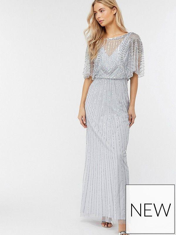 4c93e4ea56d Monsoon Tatiana Embellished Maxi Dress - Blue