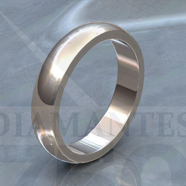 Argolla de matrimonio media caña de 4mm