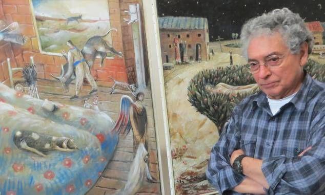 Eduardo Zamora, peintre surréaliste mexicain de 73 ans, expose à Rouen