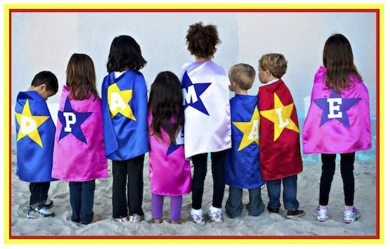 DIY No-Sew Superhero Capes video tutorial using a t-shirt.  Easy and so much fun for kids.