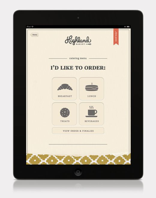 Great example of branding, ux  ui coming together seamlessly. (Highland Bakery by Stephanie Toole, via Behance)