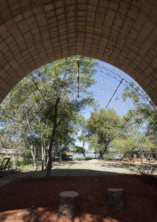 Catenarius: una bóveda experimental de ladrillos de suelo cemento armado,© Federico Cairoli