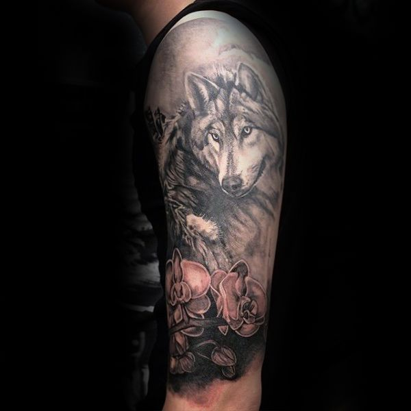 Wolf Tattoo Design Ideas For Men And Woman: Timeless Flower Design Ideas